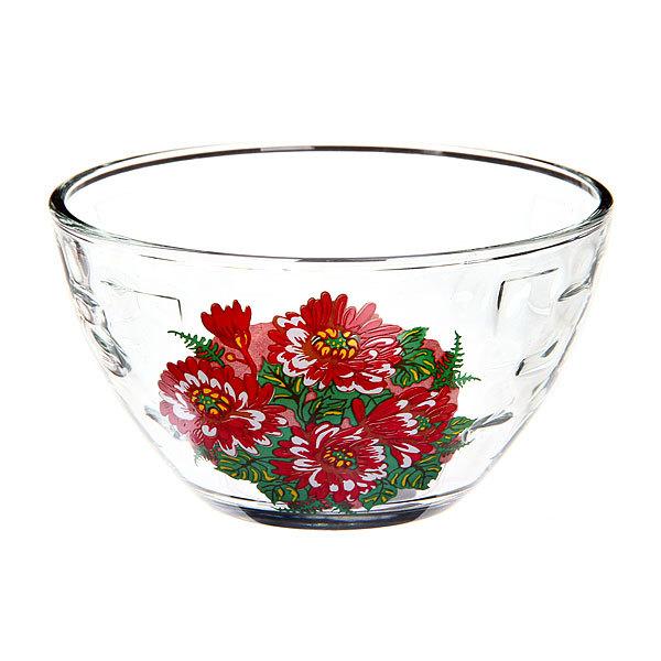 Салатник ″Красная Хризантема″ купить оптом и в розницу