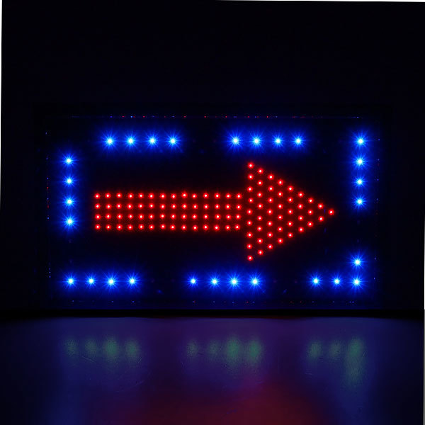 Световое табло LED 55*33см ″Стрелка″ двухсторонняя, 220В, 2 цвета купить оптом и в розницу