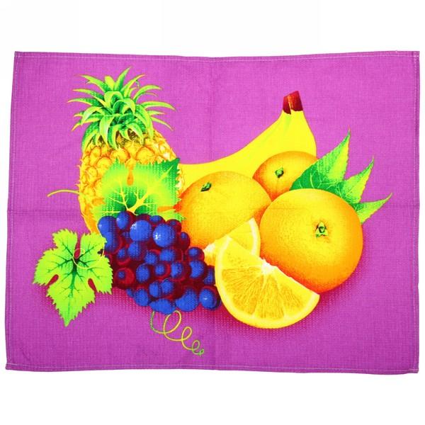 Полотенце вафельное 45*60см ″Тутти-фрутти″ желто-розовое купить оптом и в розницу