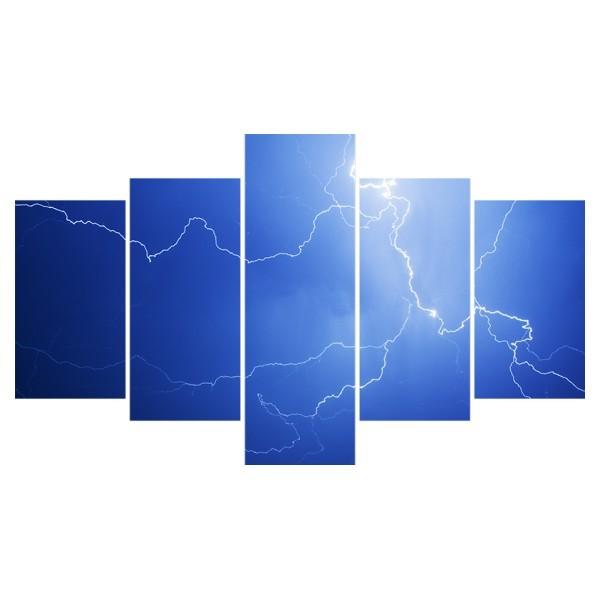 Картина модульная полиптих 75*130 Молния диз.1 14-02 купить оптом и в розницу
