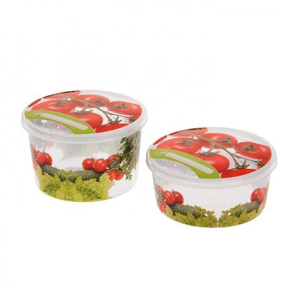 Комплект емкостей для продуктов Браво Овощи круглых 0,5 л + 0,75 л  *27 купить оптом и в розницу