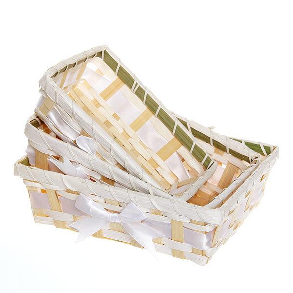 Корзинка плетёная в наборе 3 шт ″Селфи″ 22*18, 19*15, 17*13 см купить оптом и в розницу