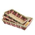 Корзинка плетёная в наборе 3 шт ″Селфи″ 25*19, 23*17, 20*15 см А45 купить оптом и в розницу