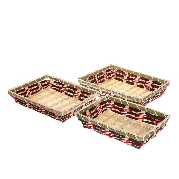 Корзинка плетёная в наборе 3 шт ″Селфи″ 25*19, 23*17, 20*15 см купить оптом и в розницу