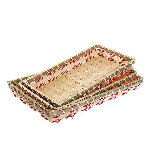Корзинка плетёная в наборе 3 шт ″Селфи″ 33*21, 30*19, 29*17 см купить оптом и в розницу