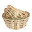 Корзинка плетёная в наборе 3 шт ″Селфи″ 23, 20,18 см купить оптом и в розницу