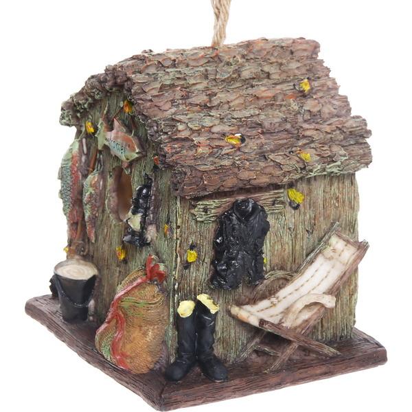 Декоративный скворечник ″Рыбацкий домик″, полстоун, 16*16 см купить оптом и в розницу