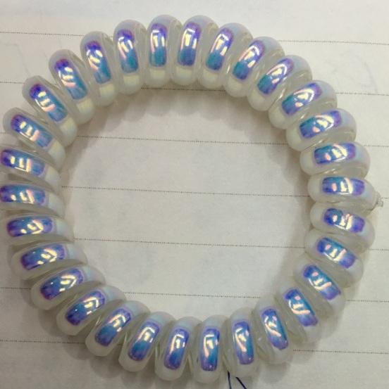 Резинки для волос силиконовые 5шт ″Жемчужный отлив″, цвет микс d-5.5см купить оптом и в розницу