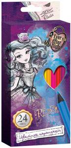 Цв.каранд.24цв Mattel Ever After High фиолет., к/у купить оптом и в розницу