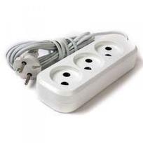 Удлинитель электрический 10 м/3 роз. б/з (ШВВП 2*0,5) (1/10) купить оптом и в розницу