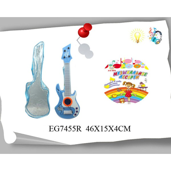 Гитара 928-1А/7455EGR струнная в пак. купить оптом и в розницу