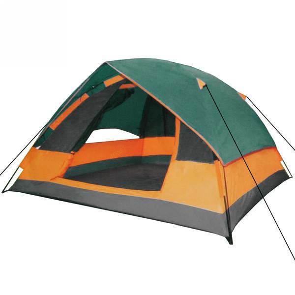 Палатка туристическая 3-местная 1-слойная зонтичного типа,цвет зеленый, 210*210*130 купить оптом и в розницу