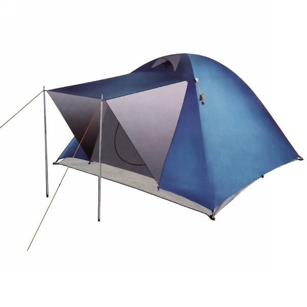Палатка туристическая 3-местная 2-слойная,цвет микс, 210*210*130 купить оптом и в розницу