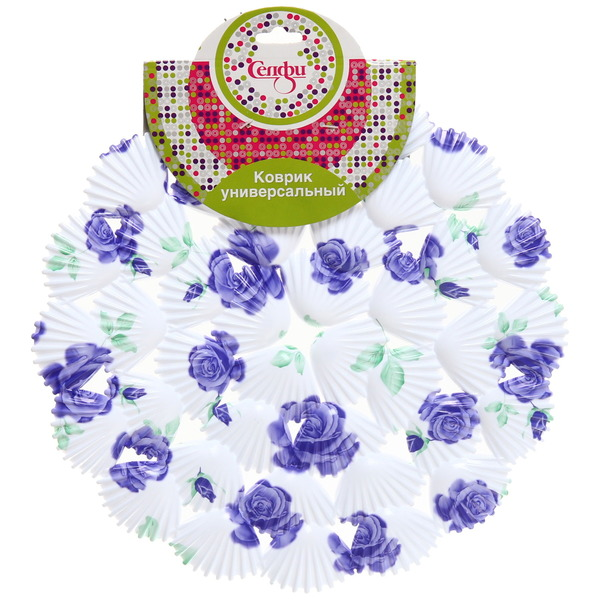 Коврик для раковины 28см ″Ракушки цветы″ Селфи купить оптом и в розницу