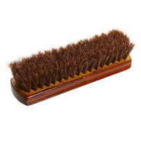 Щетка для обуви деревянная 18см натуральный ворс, коричневая купить оптом и в розницу