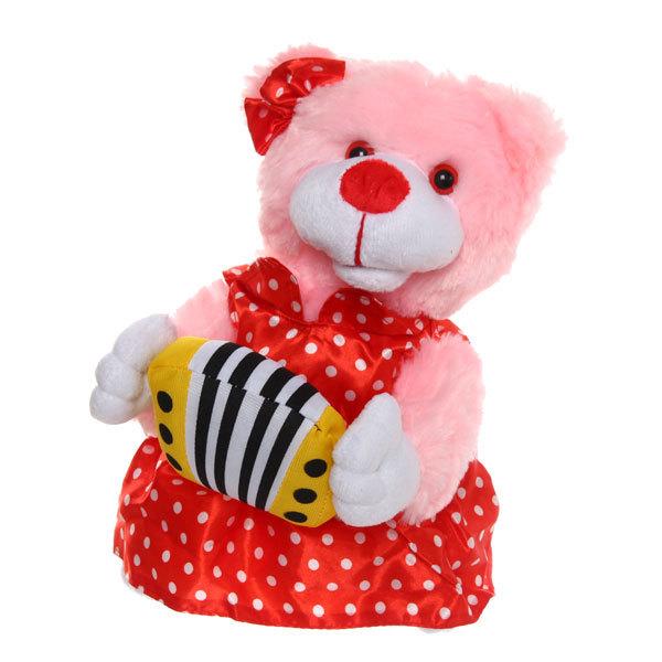 Игрушка мягкая музыкальная ″Медведица″ розовая купить оптом и в розницу