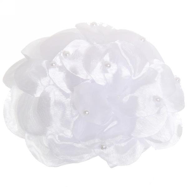 Бант для волос ″Тифани″, цвет микс, с бусинками d-16,5 купить оптом и в розницу