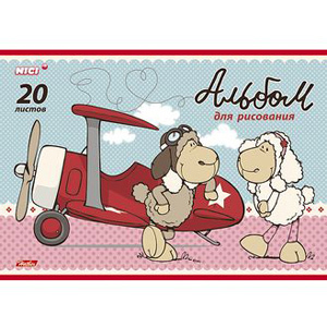 """Альбом д/рис.А4 20л, HATBER, """"Милые овечки"""" купить оптом и в розницу"""
