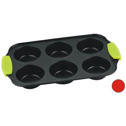Форма для выпечки с антипригарным покрытием, 6 ячеек, силиконовые ручки купить оптом и в розницу