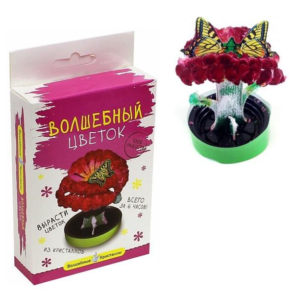 Набор ДТ Волшебные кристаллы Алый цветок CD-129 купить оптом и в розницу