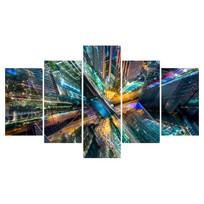 Картина модульная полиптих 75*130 Город диз.1 21-02 купить оптом и в розницу