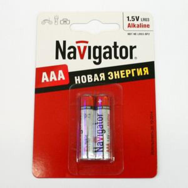 Элемент питания Navigator NBT-NE-LR03-BP2 блистер 2шт, 1.5В, AAA Alkaline (10/50) купить оптом и в розницу