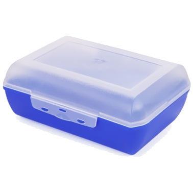 Ланч-бокс 1,1 л (фиолетово-синий) (20шт в уп) купить оптом и в розницу