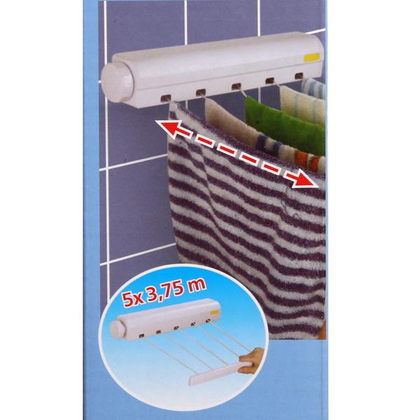 Сушилка д/белья настенная 5 веревок 36,5х375 купить оптом и в розницу
