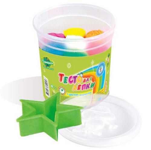 Набор ДТ Тесто для лепки 7цв+формочки Т1202 купить оптом и в розницу