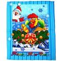 Полотенце вафельное 45*60см ″Новый год″ синее купить оптом и в розницу