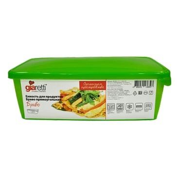 Емкость для продуктов Браво прямоугольная 1,35 л*40 купить оптом и в розницу
