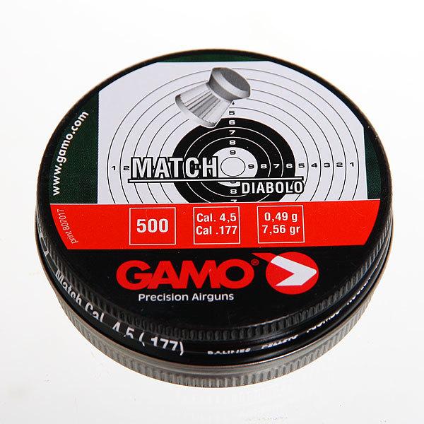 Пуля пневматическая Gamo Match, 4,5 мм, 0,49 гр (500 шт) купить оптом и в розницу