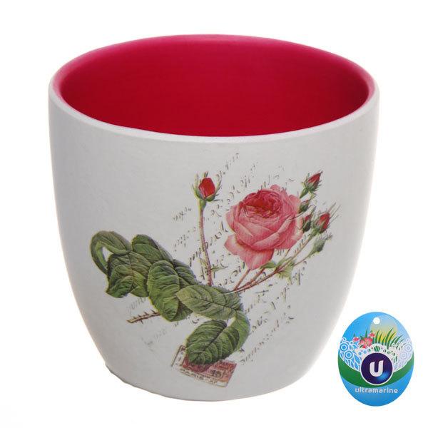 Кашпо для цветов садовое ″Роза″ 10х9см 13003-5 купить оптом и в розницу