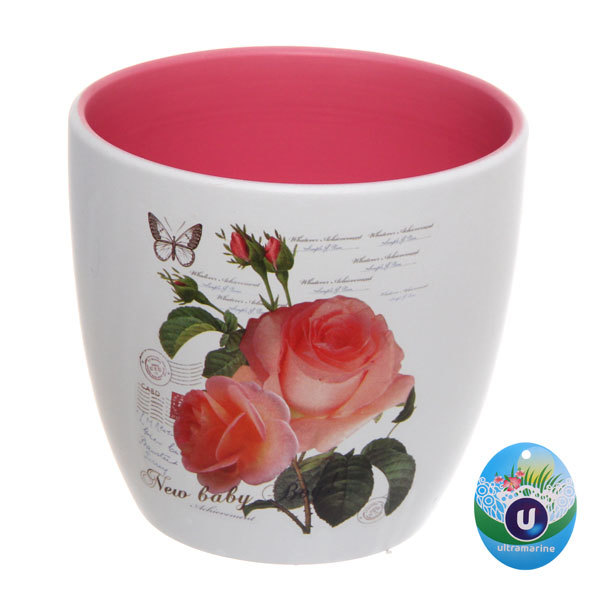 Кашпо для цветов садовое ″Роза″ 13х12см 13003-4 купить оптом и в розницу