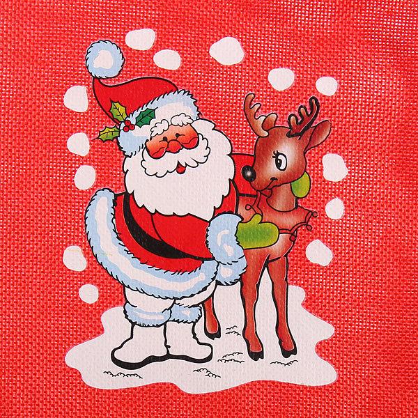 Мешок подарочный 30х20 см ″Новогодний″ красный купить оптом и в розницу