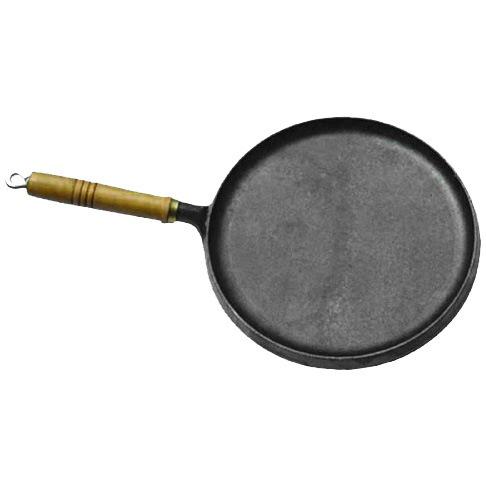 Сковорода блинная чугунная 25см деревянная ручка купить оптом и в розницу