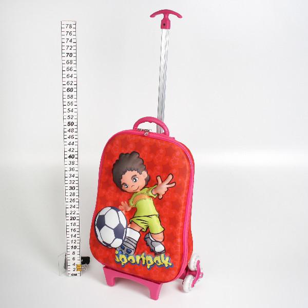 Чемодан на колесиках с выдвижной ручкой и рюкзачком 40*27, d 22 купить оптом и в розницу