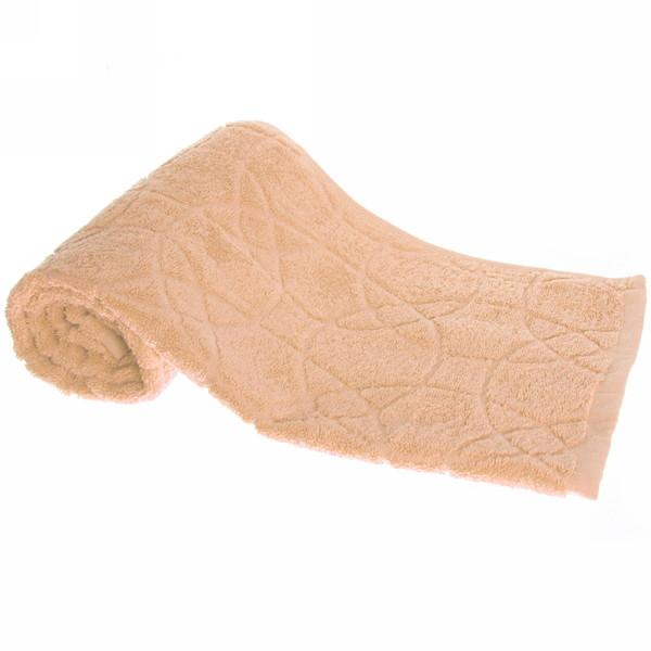 Махровое полотенце 50*100см средний оранжевый жаккард ЖК100-2-008-011 купить оптом и в розницу