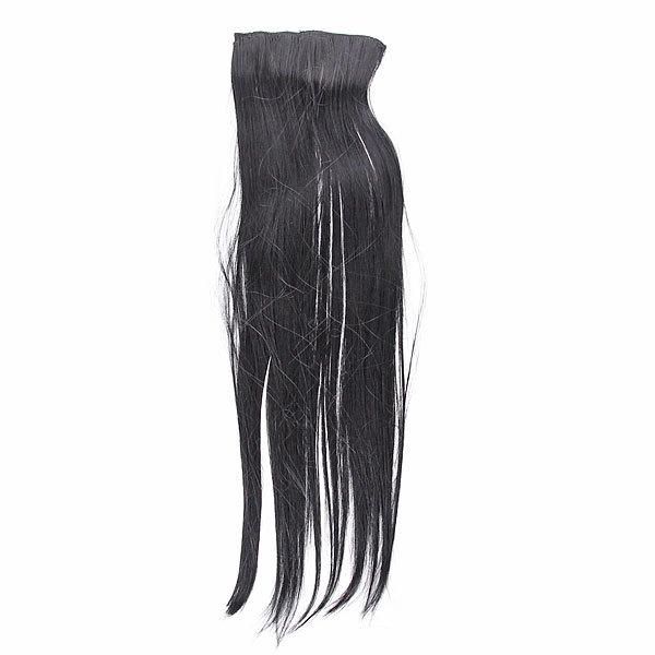 Волосы накладные ″Прядь черная″ на зажимах 13,5*53 см 517-2 купить оптом и в розницу