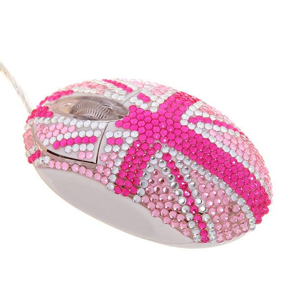 Мышь для компьютера Т-М-1 бело-розовый флаг купить оптом и в розницу