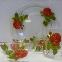 Набор посуды для завтрака ″Алая роза″ D10327/1+D10341/1+D1335/1 купить оптом и в розницу