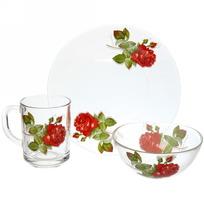 Набор посуды для завтрака ″Алая роза″ 1 купить оптом и в розницу