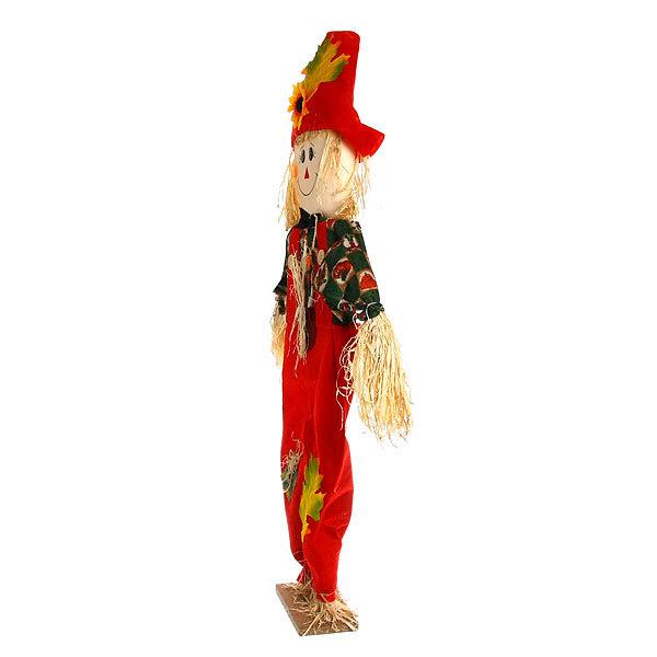 Садовое пугало ″Мальчик в шляпе″, солома, 65 см купить оптом и в розницу