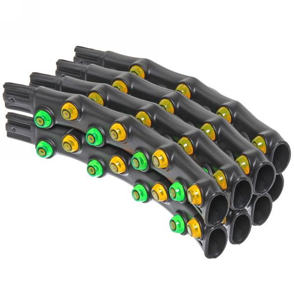 Обруч разборный (8 частей), массажный, с пластиковыми шариками, двойной, диам. 97 см. купить оптом и в розницу