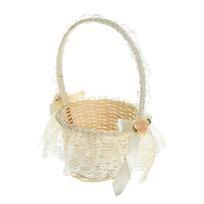 Корзина декоративная плетеная (1шт) с тканью 10*14см 125 - 1 купить оптом и в розницу