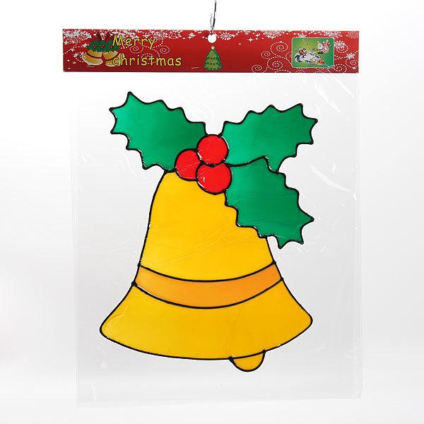 Наклейка на стекло 45*35 ″Колокольчик новогодний″ А1058 купить оптом и в розницу