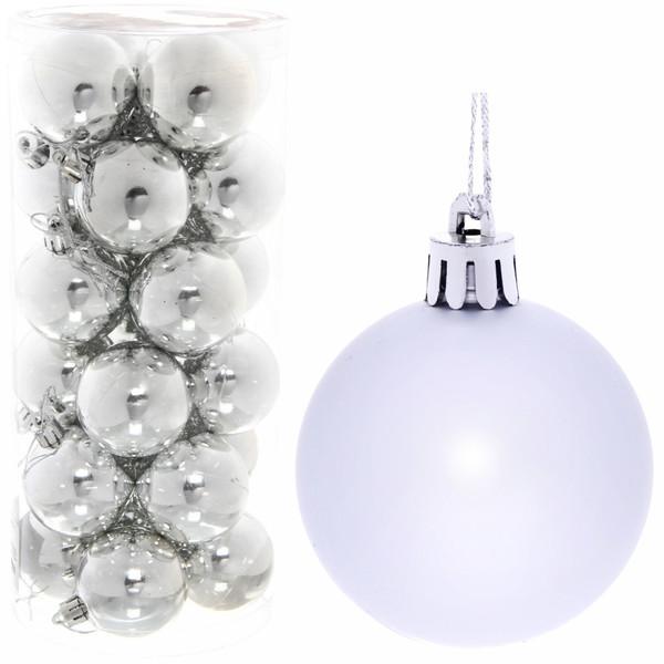 Новогодние шары 5 см (набор 24 шт)