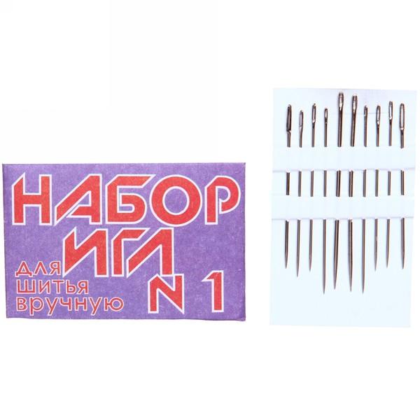 Игла швейная 10шт (набор размеров)