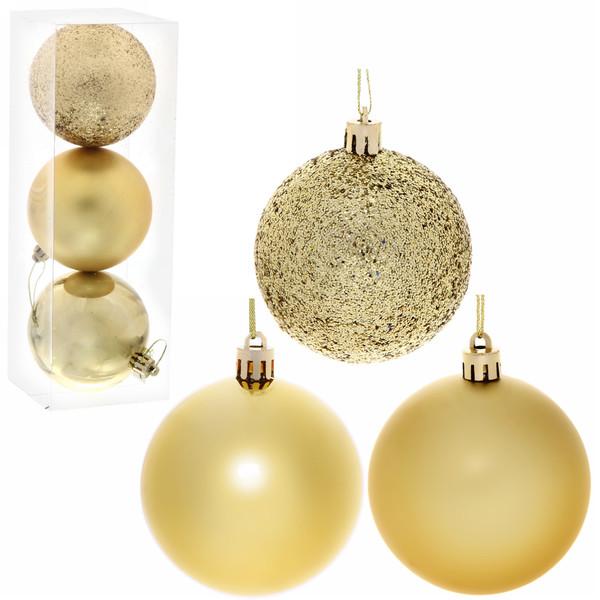 Новогодние шары 8 см (набор 3 шт)