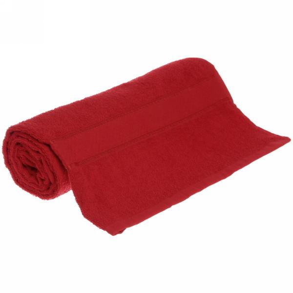 Полотенце махровое 70*130 красное
